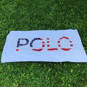 Vtg polo Ralph lauren USA flag 4th or July towel